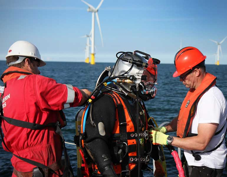 Northern Divers the perfect partner for the renewable energy